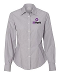 Ladies Van Huesen Non-Iron Feather Stripe Shirt
